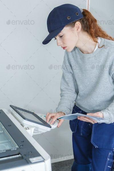 resetting the printer