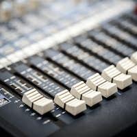 Music mixer button