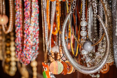 Colorful traditional jewelry