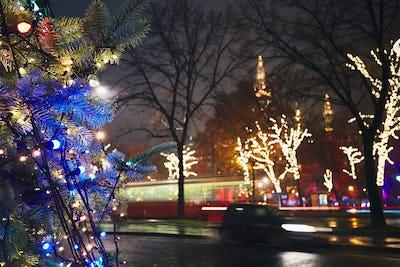 Christmas decoration on the street