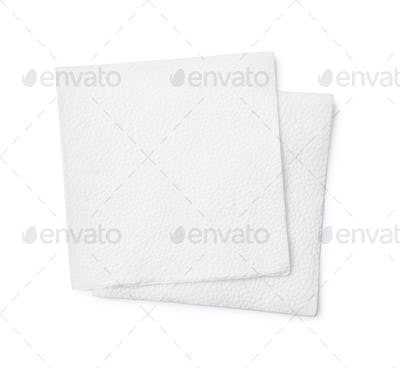 Top view of two paper napkin
