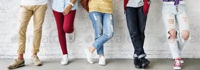 Diversity Students Friends Standing Concept