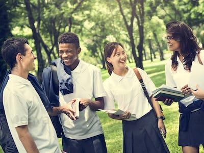 Student Study Uniform Book College Book Teen Concept