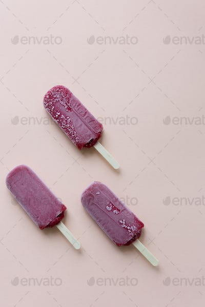 Ice Pop Flavored Ice Frozen Dessert Sweet Tasty Concept