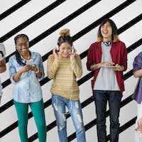 Diversity Young Teens People Friends Concept