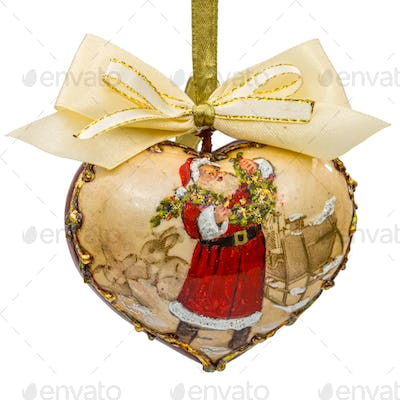 Decoration in form of pendants in the shape of heart for Christm