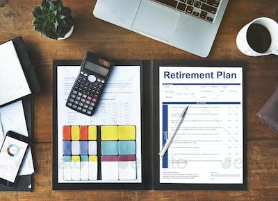 Retirement Plan Financial Investment Application Form Concept