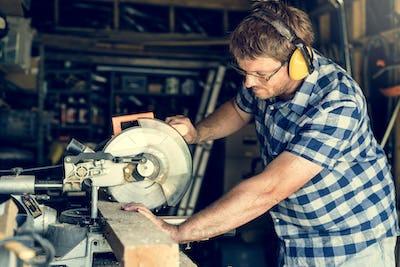 Carpenter Craftman Lumber Timber Woodwork Concept