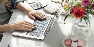 Online Shopping Spending Marketing Internet Concept