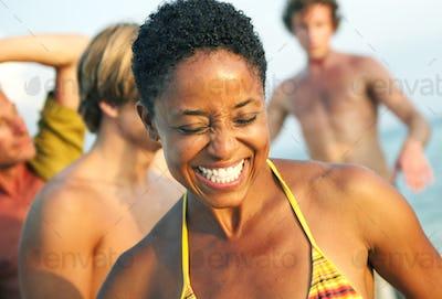 African Descent Woman Enjoying Beauty Bright Concept