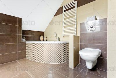 Bathroom with a big bath