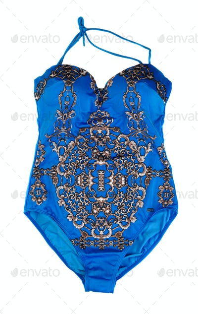 Blue swimsuit fused. Isolate.