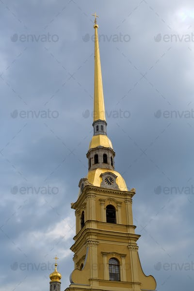 The spire of the Peter and Paul Fortress.