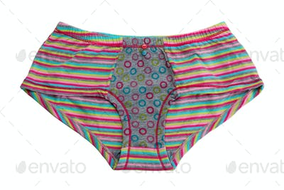Striped colored cotton panties.