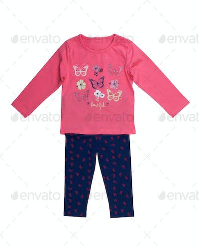 Children's jacket and pants set.