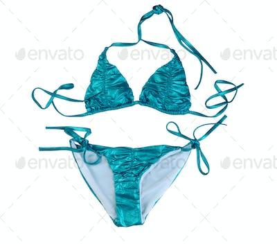 Blue stylish swimsuit.