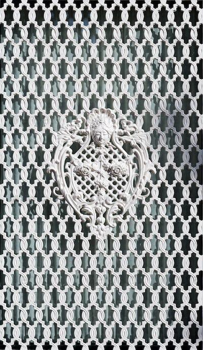White ornamental grille.