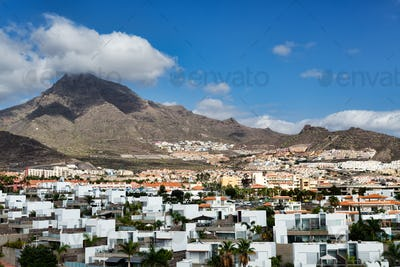 City by the volcanic Canary Islands