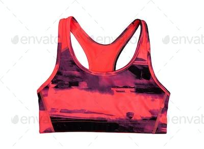 red sports bra