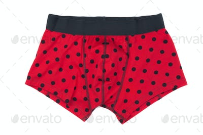 Boxer briefs in red polka dots.