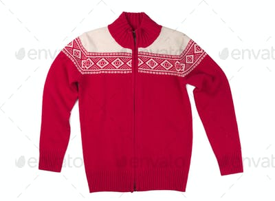 Wool red sweater.