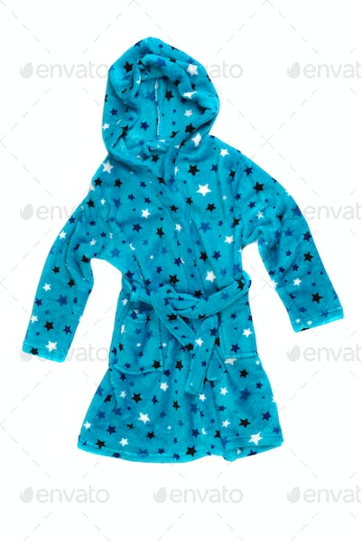 Children's blue bathrobe.