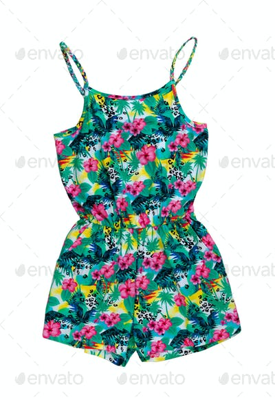 Color shorts sundress.