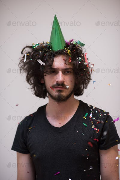 confetti man on party