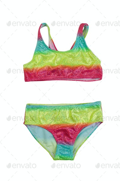 Children bright swimsuit