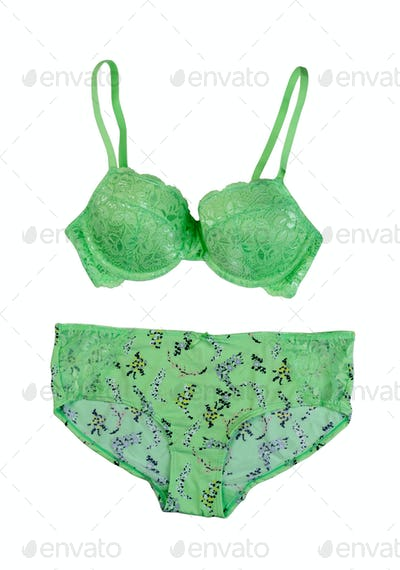Set of lingerie, isolate on a white