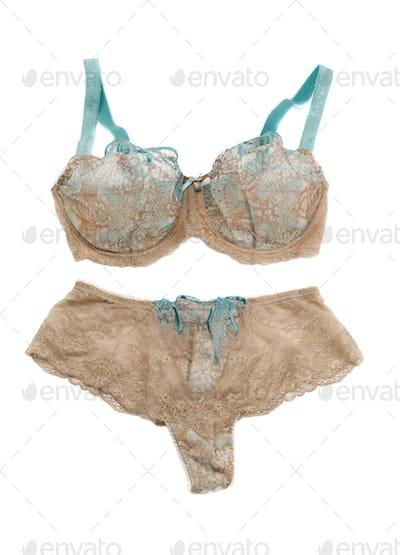 Beige Set of lingerie