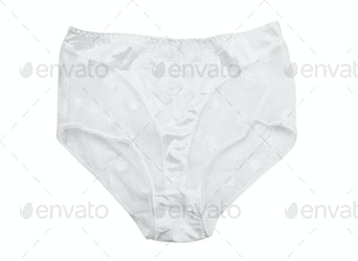 White lace panties, isolate