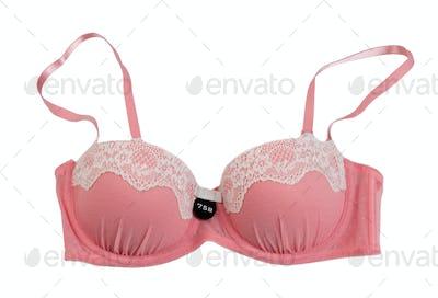 Pink fishnet bra