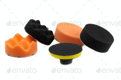 Set of sponges for polishing the car
