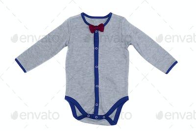 Children's underwear, gray, isolate on white