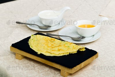 Chinese national dish, salted pancakes