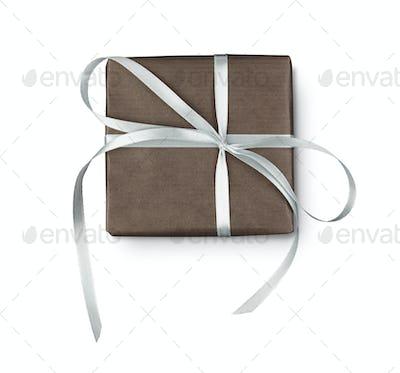 Christmas holiday gift box isolated on white