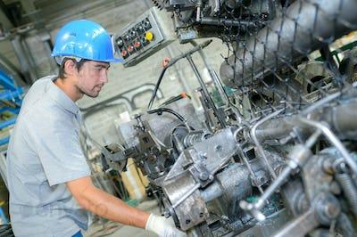machinist at work
