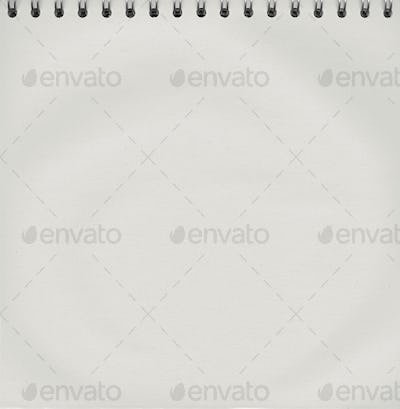 Notepad with a spiral binding