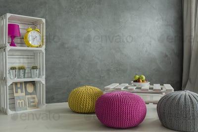 Color in concrete interior