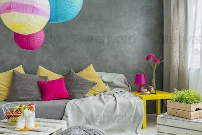 Colorful decorative pillows