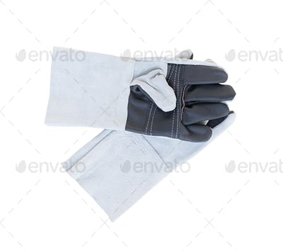 Leather gloves for welding