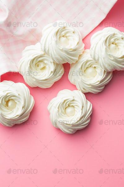 Sweet white meringue.