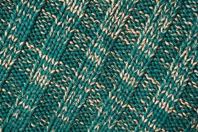 Green wool fabric texture detail
