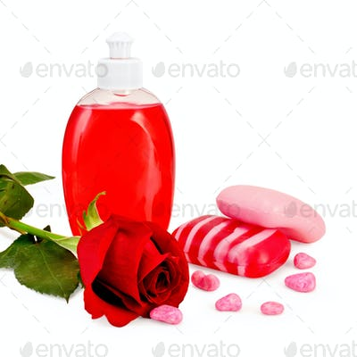 Soap different with rose