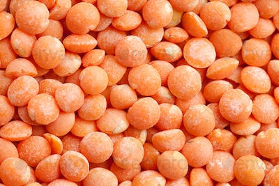 red lentils background