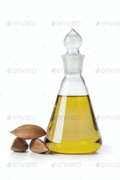 Glass bottle with Pili nut oil