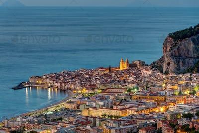 Cefalu in Sicily at dawn