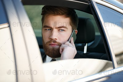 Picture of Business man talking on phone