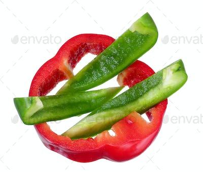 Slices of Capsicum